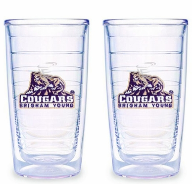 Brigham Young Set of TWO 16 oz. Tervis Tumblers