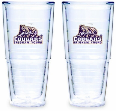 Brigham Young Set of TWO 24 oz. Tervis Tumblers