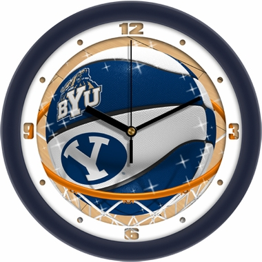 Brigham Young Slam Dunk Wall Clock