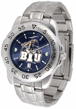 Brigham Young Sport Anonized Men's Steel Band Watch