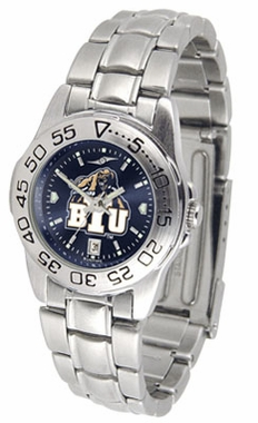 Brigham Young Sport Anonized Women's Steel Band Watch