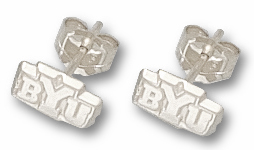 Brigham Young Sterling Silver Post or Dangle Earrings