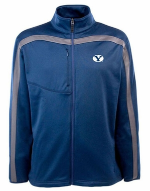 Brigham Young Mens Viper Full Zip Performance Jacket (Team Color: Navy)