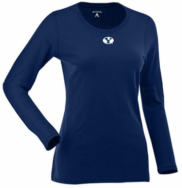 Brigham Young Womens Relax Long Sleeve Tee (Team Color: Navy)