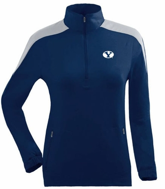 Brigham Young Womens Succeed 1/4 Zip Performance Pullover (Team Color: Navy)