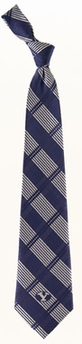 Brigham Young Woven Plaid Necktie