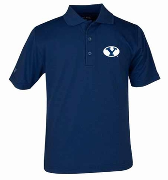 Brigham Young YOUTH Unisex Pique Polo Shirt (Team Color: Navy)