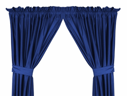 Bright Blue Jersey Material Drapes (Pair)