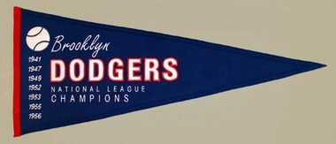 Brooklyn Dodgers Cooperstown Wool Pennant
