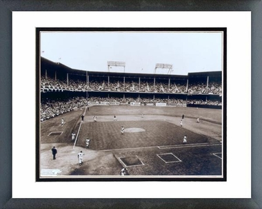 Brooklyn Dodgers Ebbets Field - Inside 16x20 Framed and Double-Matted Photo