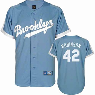 Brooklyn Dodgers Jackie Robinson Cooperstown Replica Jersey - Blue