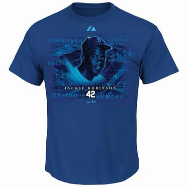 Brooklyn Dodgers Jackie Robinson Inspiration T-Shirt - Blue