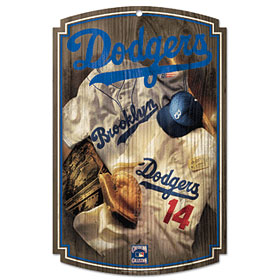 Brooklyn Dodgers Throwback Wood Sign
