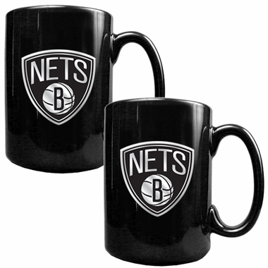 Brooklyn Nets 2 Piece Coffee Mug Set