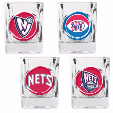 New Jersey Nets 4 Piece Assorted Shot Glass Set