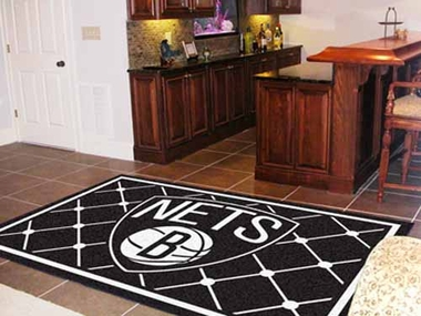 Brooklyn Nets 5 Foot x 8 Foot Rug