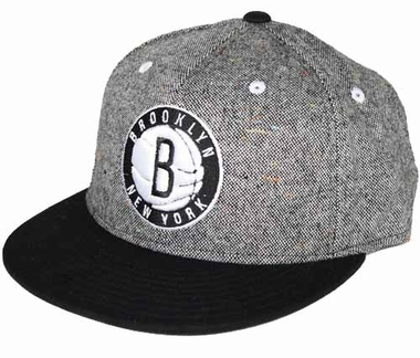 Brooklyn Nets Grey Snap Back Hat