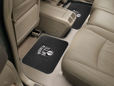 Brooklyn Nets SET OF 2 Heavy Duty Vinyl Rear Car Mats