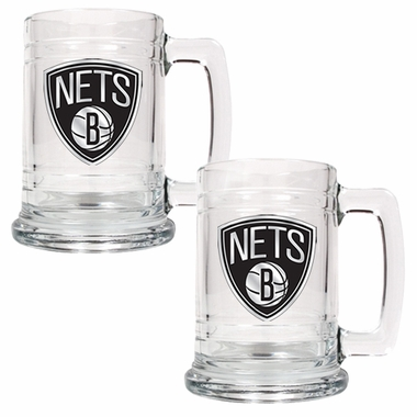 Brooklyn Nets Set of 2 15 oz. Tankards