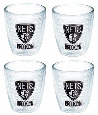 Brooklyn Nets Set of FOUR 12 oz. Tervis Tumblers
