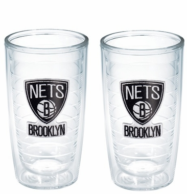 Brooklyn Nets Set of TWO 16 oz. Tervis Tumblers