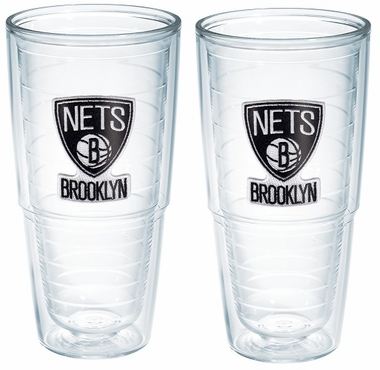 Brooklyn Nets Set of TWO 24 oz. Tervis Tumblers