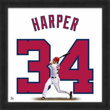 "Bryce Harper, Nationals Uniframe - 20"" x 20"""