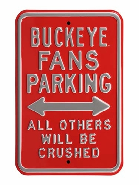 Buckeye/Crushed Parking Sign