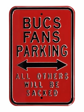 Bucs Sacked Parking Sign