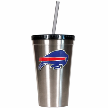 Buffalo Bills 16oz Stainless Steel Insulated Tumbler with Straw