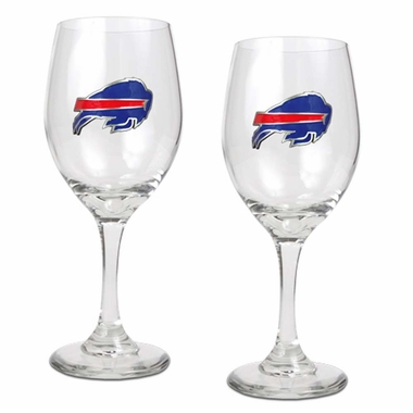 Buffalo Bills 2 Piece Wine Glass Set