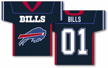 Buffalo Bills 2 Sided Jersey Banner Flag (F)
