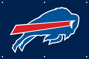 Buffalo Bills 2 x 3 Horizontal Applique Fan Banner