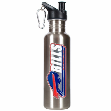 Buffalo Bills 26oz Stainless Steel Water Bottle (Silver)