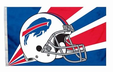 Buffalo Bills 3x5 Helmet Design Flag