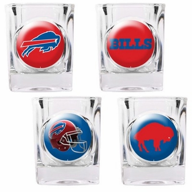 Buffalo Bills 4 Piece Assorted Shot Glass Set