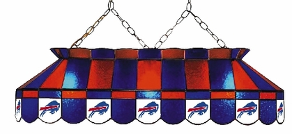 Buffalo Bills 40 Inch Rectangular Stained Glass Billiard Light