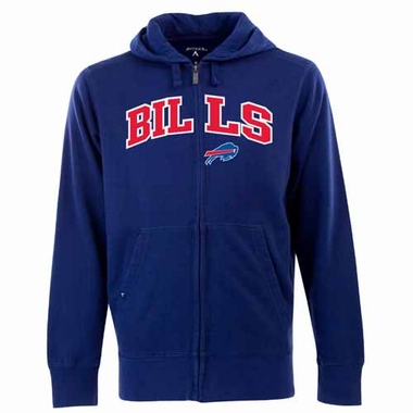 Buffalo Bills Mens Applique Full Zip Hooded Sweatshirt (Color: Royal)