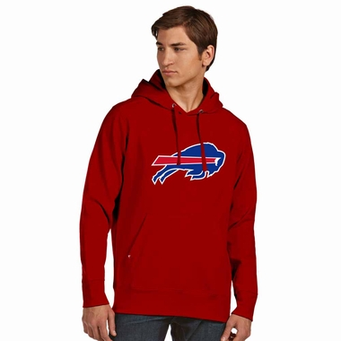 Buffalo Bills Big Logo Mens Signature Hooded Sweatshirt (Alternate Color: Red)