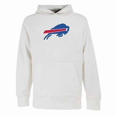 Buffalo Bills Big Logo Mens Signature Hooded Sweatshirt (Color: White)
