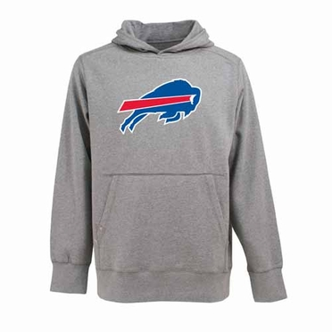 Buffalo Bills Big Logo Mens Signature Hooded Sweatshirt (Color: Gray)