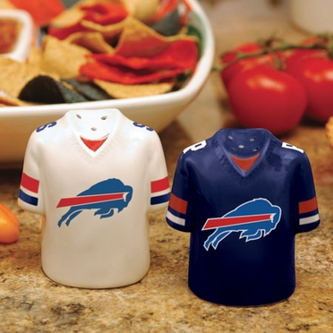 Buffalo Bills Ceramic Jersey Salt and Pepper Shakers