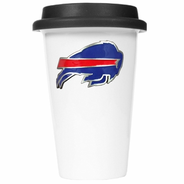 Buffalo Bills Ceramic Travel Cup (Black Lid)