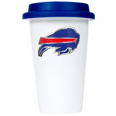 Buffalo Bills Ceramic Travel Cup (Team Color Lid)
