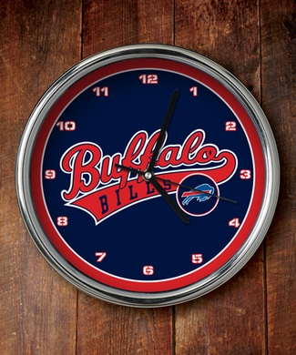 Buffalo Bills Chrome Clock