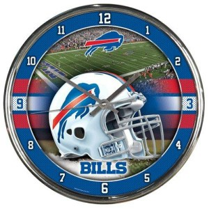 Buffalo Bills Round Chrome Wall Clock