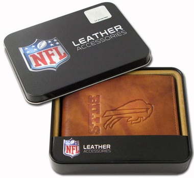 Buffalo Bills Embossed Leather Bifold Wallet