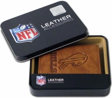 Buffalo Bills Embossed Leather Trifold Wallet