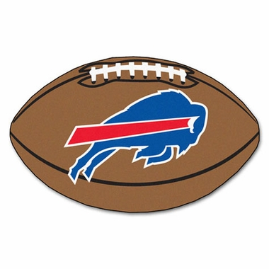 Buffalo Bills Football Shaped Rug