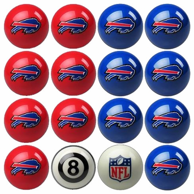Buffalo Bills Home and Away Complete Billiard Ball Set